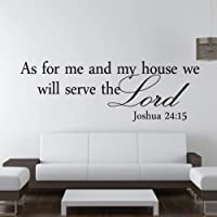 Joshua 24:15 Quote Wall Sticker Bible Verses Lord Decal Removable DIY Room Decor