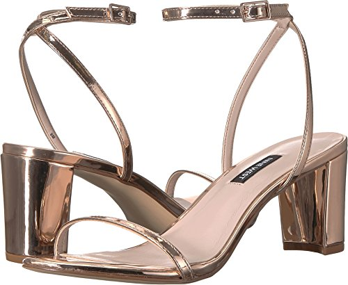 Nove West Womens Provein Blocco Tallone Sandalo Sintetico Rosa