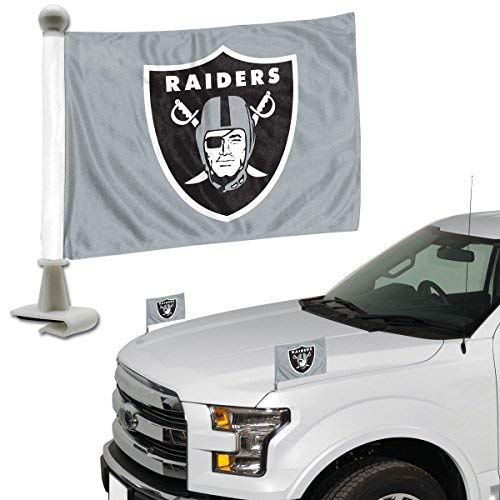(ProMark NFL Oakland Raiders Flag Set 2Piece Ambassador Styleoakland Raiders Flag Set 2Piece Ambassador Style, Team Color, One Size)