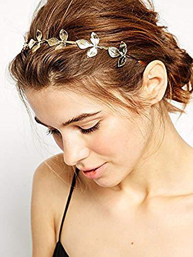 Artio Wedding Headband for Bride-Bridal Greek Goddess Headpiece for Wemen Leaf Branch Dainty Bridal Hair Crown Head Dress Boho Alice Band HB001 ()