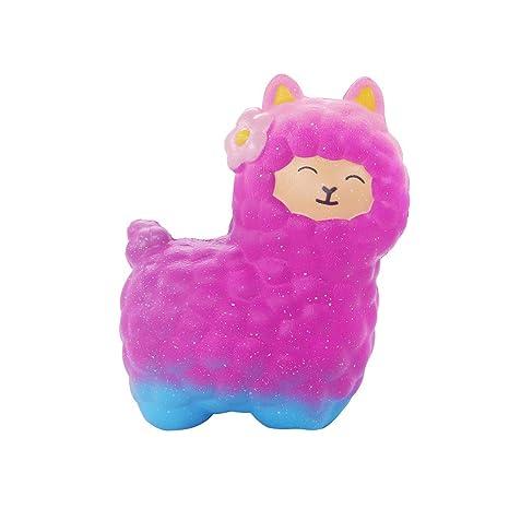 ALIKEEY Squeeze ♈ Cute Ovejas Alpaca Super Lento Aumento De Aroma Divertido Animal Toys Playa Perros