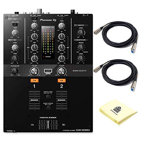 Pioneer DJ DJM-250MK2 2 Channel Digital DJ Mixer with 3 Band Isolator EQs | Sound Color FX Filters | USB Audio Interface…