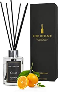 NEVAEHEART Reed Diffuser, Ocean Scented Reed Diffuser Set, 4.0 oz (120ml), Oil Diffuser Sticks, Home Fragrance Products, Fragrance Diffuser