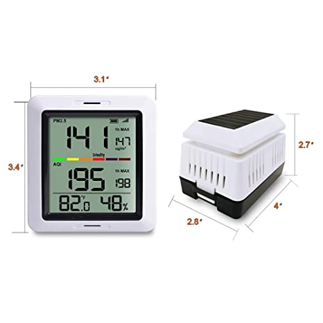 Mini PM2.5 Detector Air Quality Tester Monitor Meter Rechargeable AIR-06 Black