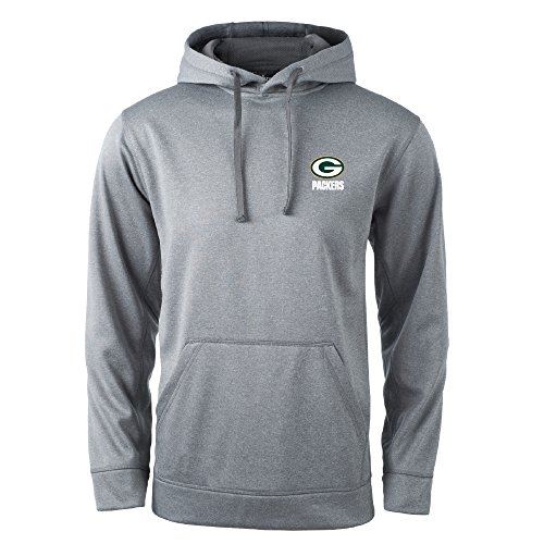 NFL Green Bay Packers Champion Tech Fleece Hoodie, Large, Heather Grey (Bay Hoodie Green Packers)
