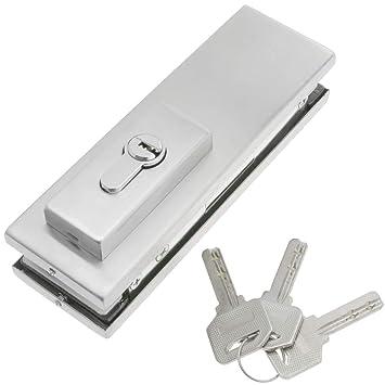 PrimeMatik - Cerradura de Aluminio para Puerta de Cristal para cierrapuertas de Suelo