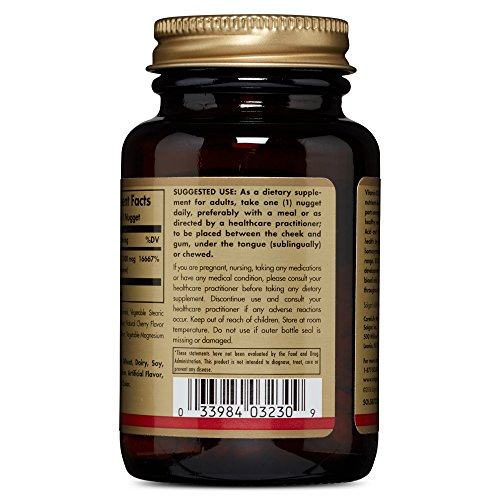 Solgar Vitamin B12, 1000 mcg Nuggets, 250 Count Improves Brain Function and Energy Levels