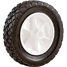 Shepherd Hardware 9610 6-Inch Semi-Pneumatic Rubber Replacement Tire, Plastic Wheel, 1-1/2-Inch Diamond Tread