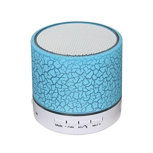 Creazy Portable Mini Wireless Stereo Bluetooth Speaker For Samgsung Tablet PC FM (Blue)