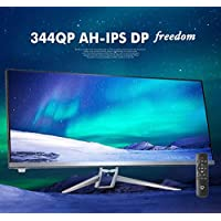 CrossLCD 344Q AH-IPS DP Freedom 34 Inch 2560x1080 21:9 Cinema Wide Monitor (Display Port, HDMI, DVI, VGA) Remote 2016 New model