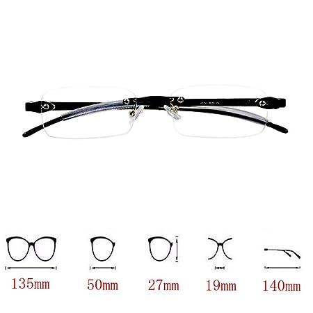 Deylaying Gafas de lectura sin montura - Estilo Diseño Retro Súper ligero  Pequeña Rectangulares Montura al aire Gafas Anti-fatigue Lector para Mujer  ... 6b04f1569662