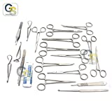 G.S 50 PCS CANINE SPAY PACK VETERINARY INSTRUMENTS,SCISSORS FORCEPS NEEDLE HOLDERS-PREMIUM GRADE SET BEST QUALITY