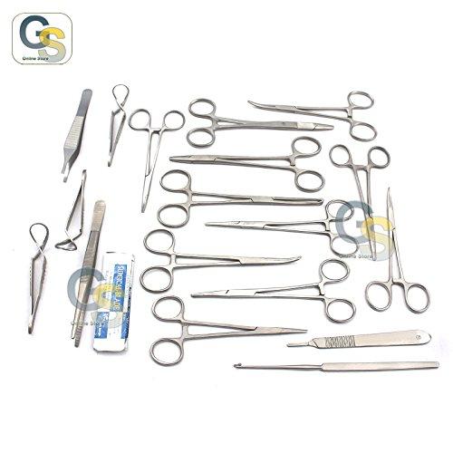 G.S 50 PCS CANINE SPAY PACK VETERINARY INSTRUMENTS,SCISSORS FORCEPS NEEDLE HOLDERS-PREMIUM GRADE SET BEST (Veterinary Needles)