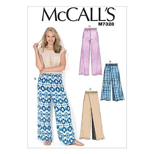 McCall's Patterns M7328 Misses' Wide-Leg Pants, ZZ (Large-X-Large-XX-Large)
