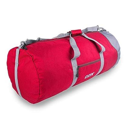 Amazon.com  GOX Foldable Duffel Bag Tote Luggage Bag Carry On GYM Sports Bag  Size L(Red)  GOX TRAVEL 60bd9c4eded65