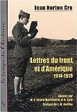 Image de Lettres du front et d'Amérique (1914-1919) (French Edition)
