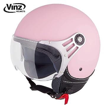 Amazon.es: Vinz - Moderno casco tipo jet para motocicleta en ...