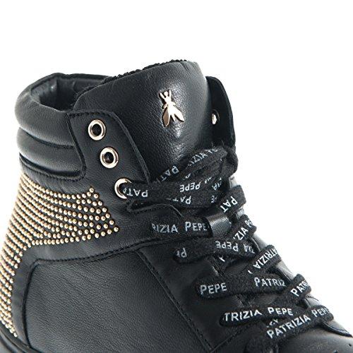 Patrizia Pepe - Zapatos de cordones para mujer Negro negro