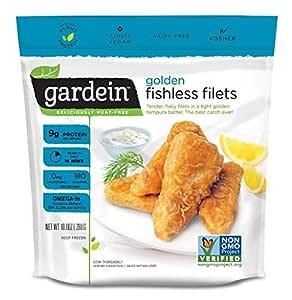 Gardein Golden Fishless Filets, Fish Free, Meatless Protein, 10.1 Ounces (Frozen)