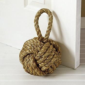 Marseille Monkey Knot Jute Rope Door Stopper 10 In