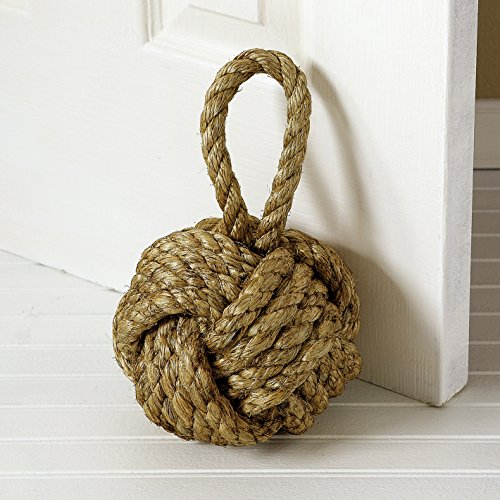 Marseille Monkey Knot Jute Rope Door Stopper 10-in by Two's Company