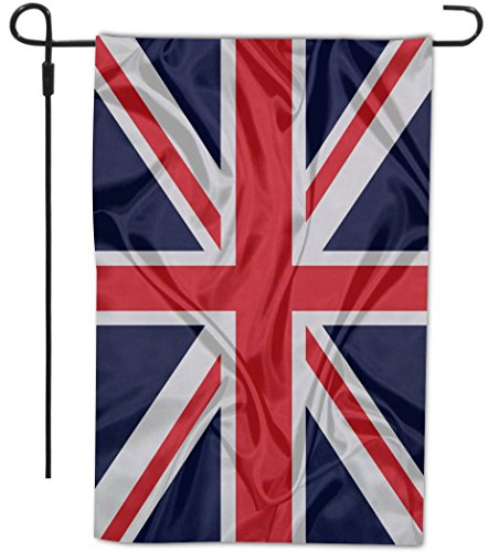 Rikki Knight Great Britain Flag Design Decorative House or Garden Flag, 12 by 18-Inch, Full Bleed