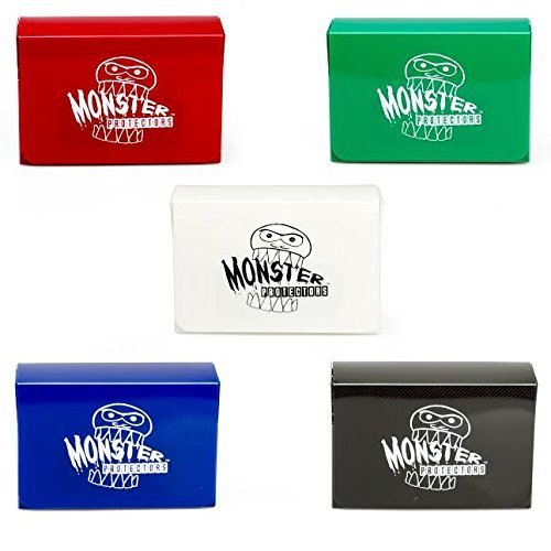- Deck Box - Magnetic Double Deck Boxes By Monster (Set of 5) - Fits Mtg Magic, Yugioh, and Pokemon