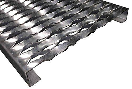 "3153012-144 Grip Strut Channel 12 Gauge Carbon Steel 5-Diamond Plank Safety Grating, 144"" Length x 11-3/4"" Width x 3"" Depth"