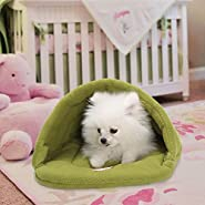 "Yuting Soft Warm Pet Dog Cat Bed House Plush Cozy Nest Mat Pad Cushion Pet Cave(XS 11"" X 15"" /S 15"" X 19""/M 19"" X 23"" /L 23"" X 27"")"
