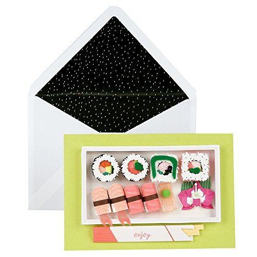Hallmark Signature Birthday Greeting Card (3D Sushi)