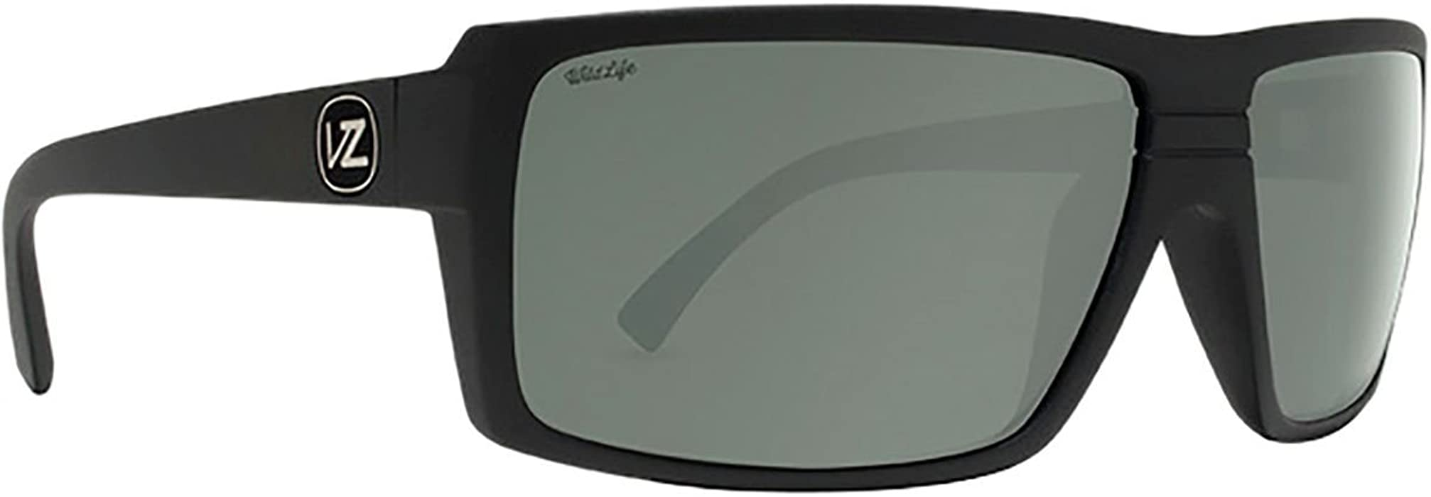 b970d36000f1 Amazon.com: Von Zipper Snark Wildlife Polarized Plus Sunglasses-Black Satin-Silver  Flash: Clothing