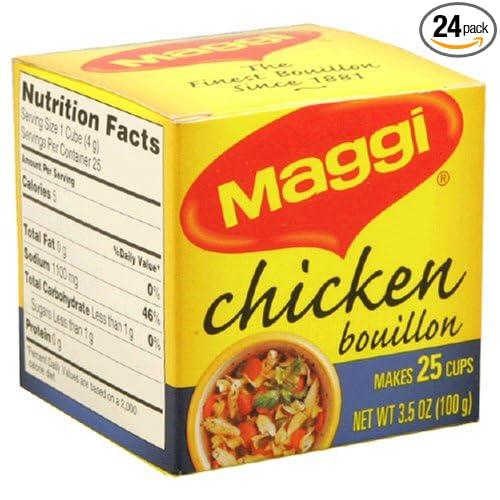 Maggi bouillon Cubos de pollo, 25-Count Cajas (Pack de 24 ...