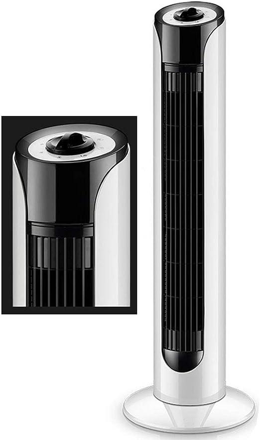 Jyfsa Ventilador de Torre oscilante Ligero con botón mecánico Simple, Ventilador de enfriamiento eléctrico de Interior Delgado 3 velocidades, Blanco + Negro (80x26cm): Amazon.es: Hogar