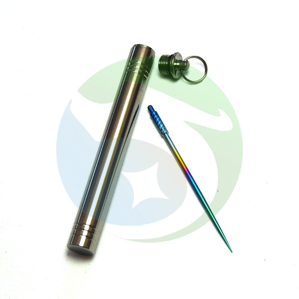 Titanium Reusable Toothpick EDC Survival Travel Kit Water Proof Titanium Capsule Barrel Holder Container Toothpick Holders Ltd