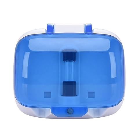 famtasme UV ultravioleta cepillo de dientes esterilizador desinfectante limpiador doble soporte para cepillos de dientes de