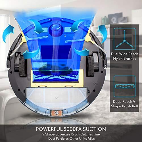 Smart Robot Vacuum Gyroscope Multiroom Mobile App Control and Compatible Dock, 3 Step Filter - Hardwood and Carpet