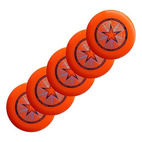Discraft Ultra-Star 175g Ultimate Sportdisc Orange (5 Pack) by Discraft