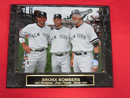 Alex Rodriguez 8x10 Photograph - Derek Jeter Jorge Posada Alex Rodriguez Yankees Collector Plaque w/8x10 Photo