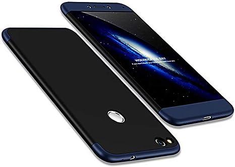 Funda Huawei P8 Lite 2017(Honor 8 Lite) 360 Grados Azul Negro ...