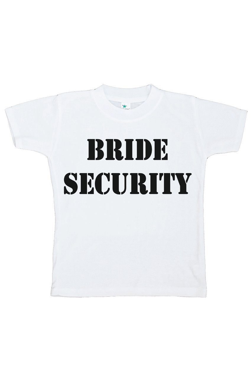 Custom Party Shop Youth Boy's Bride Security Wedding T-shirt Large