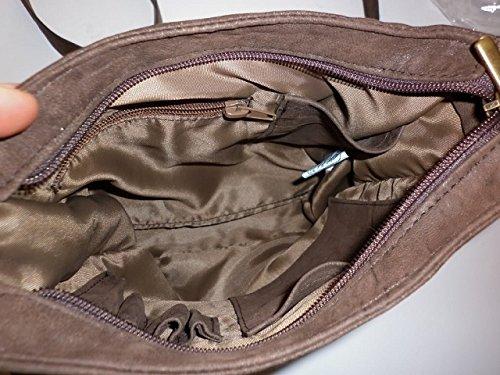 Borsello messenger in pelle effetto -Vero Artigianato italiano - 23cm L, 24cm H,5 cm MOD : Dumbo bruciato