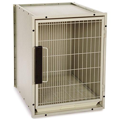 High Modular Dog Kennel (ProSelect Steel Modular Kennel Pet Cage, Medium, Sandstone)