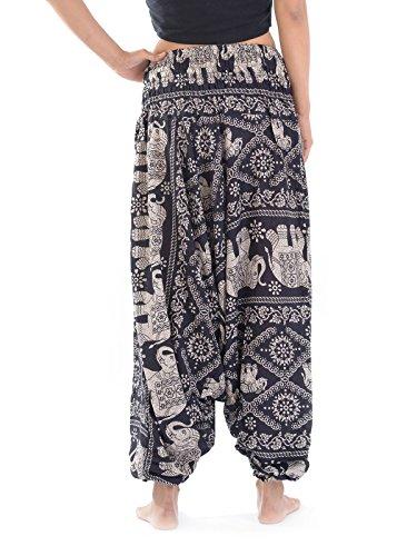 Pantaloni Elephant Donna Forgotten Black Tribes 1AqX7w5