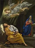 Oil Painting 'Philippe De Champaigne The Dream Of Saint Joseph' 12 x 16 inch / 30 x 41 cm , on High Definition HD canvas prints is for Gifts And Basement, Bath Room And Kids Room Decoration