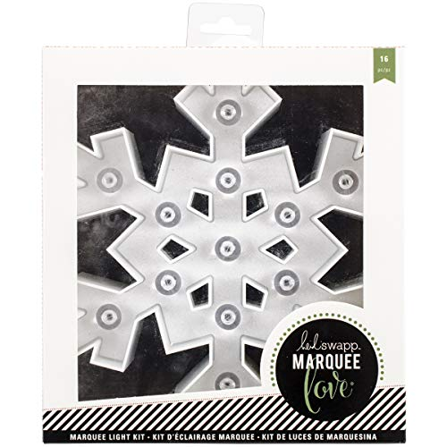 American Crafts Heidi Swapp Marquee Love Collection Christmas Marquee Kit Plastic Snowflake (12 Pack) -