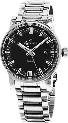 Chronoswiss Grand Pacific Men's Black Dial Stainless Steel Automatic Swiss Watch CH-2883B-BK2