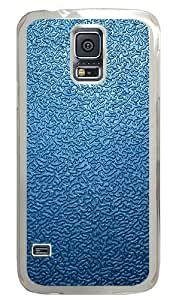 Blue Traces The Background 2 Custom Samsung Galaxy S5 Case Back Cover, Snap-on Shell Case Polycarbonate PC Plastic Hard Case Transparent hjbrhga1544