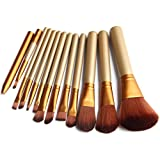 Voberry® Premium Synthetic Kabuki Makeup Brush Set Cosmetics Foundation Blending Blush Eyeliner Face Powder Brush Makeup Brush Kit (12pcs)