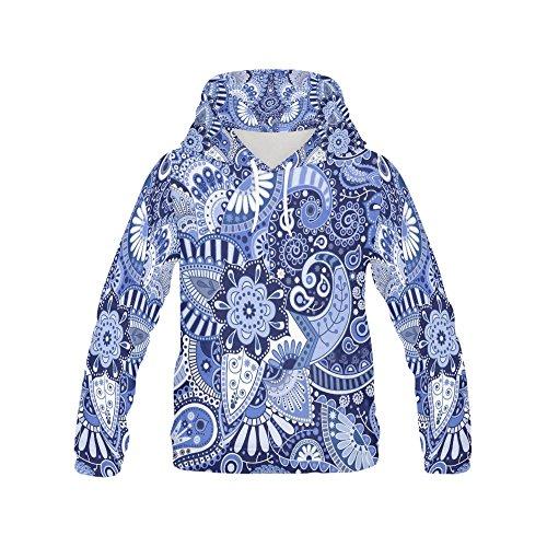 (Bohemian Hippie Women's 3D Printed Pullover Hooded Sweatshirt)