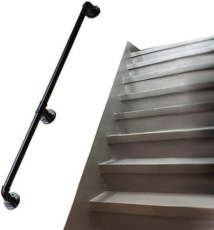 LHNLY-Handrail Barandilla de Escalera para Interior y Exterior para Montar en la Pared | Rieles de Hierro Forjado Negro | Soporte para barandilla de Escalera, diseño de tubería de Agua: Amazon.es: Hogar